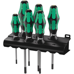 Wera 028059- 367/6 TORX® HF Kraftform Plus Screwdriver Set with Holding Function and Rack - Wise Line Tools