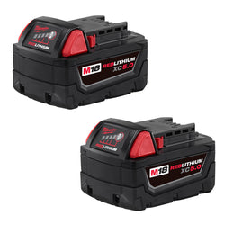 Milwaukee 48-11-1852 - M18™ REDLITHIUM™ XC5.0 Extended Capacity Battery Two Pac - wise-line-tools