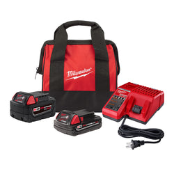 Milwaukee 48-59-1850TPC  -  M18 5.0Ah & 2.0Ah Starter Kit with Bag