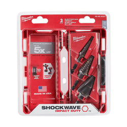 Milwaukee 48-89-9257 - Shockwave Impact Duty Step Bit Kit-Electrician - wise-line-tools