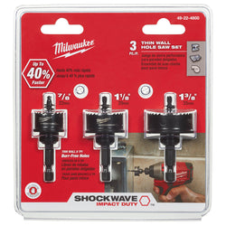 Milwaukee 49-22-4800  -  SHOCKWAVE™ Impact Hole Saw Kit - Wise Line Tools