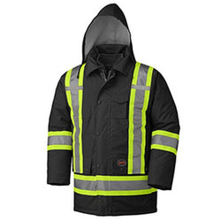 Pioneer Hi-Viz 100% Waterproof Orange 6-in-1 Parka - wise-line-tools
