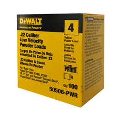 Dewalt Powers 50506 -  50506-PWR SINGLE SHOTS YELLOW .22 CAL 100PK