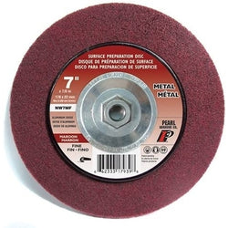Pearl NW7MF  -  7 x 7/8 surface preparation wheel Maroon; Aluminum Oxide, Metal, Stainless Steel,