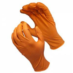 "Monkeywrench 6 MIL Diamond Grip Orange 9""- XL - Wise Line Tools"