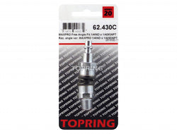 TOPRING 62.430C  -  45° free angle fitting 1/4 industrial x 1/4 (m) npt maxpro