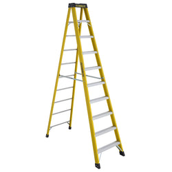 featherlite  6912  12' EXTRA-HEAVY DUTY FIBERGLASS STEPLADDER - wise-line-tools