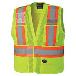 Pioneer Hi- Viz Yellow Safety Tear-Away Vest - wise-line-tools