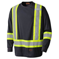 Pioneer Birdseye Black Safety Long-Sleeved Shirt - wise-line-tools