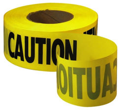 Empire Level 71-1001 - 1000-Feet by 3-Inch Caution Barricade Tape, Yellow - Wise Line Tools