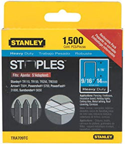 STANLEY  TRA709TC  -  1,500 PC 9/16 IN HEAVY DUTY STAPLES - wise-line-tools