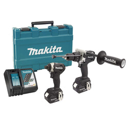 Makita DLX2176TBCOMBO -  18V Hammer Drill & Impact Driver Combo Kit - wise-line-tools