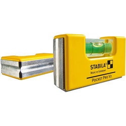 Stabila 11901 Magnetic Pocket Level PRO with Yellow Holster - wise-line-tools