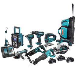 Makita DLX9001  -  18V 9 Tool Combo Kit - Wise Line Tools