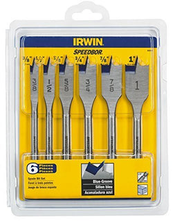 IRWIN Tools 88886 Speedbor Blue Groove Spade Bit Set, 6-Piece by IRWIN - wise-line-tools