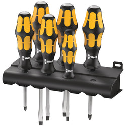 Wera 018282- 932/6 Screwdriver set Kraftform Wera: Chiseldriver and Rack - wise-line-tools