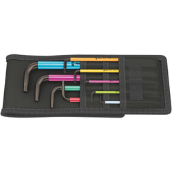 Wera 022639- 950/9 Hex-Plus Multicolour Imperial 1 L-key Set, Imperial, BlackLaser - wise-line-tools