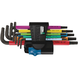 Wera 024179- 967/9 TX Multicolour HF 1 L-Key Set with Holding Function - Wise Line Tools