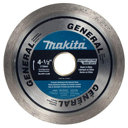 "Makita A-95071 - 4-1/2"" Continuous Rim Diamond Blade - wise-line-tools"