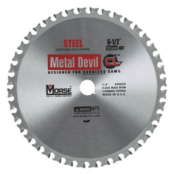 "Morse 6-1/2"" 40T Metal Cutting Saw Blade - Wise Line Tools"