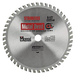 "Morse 6-1/2"" 48T Stainless Steel Cutting Saw Blade - Wise Line Tools"
