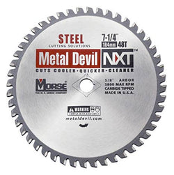 "Morse 7-1/4"" 48T Metal Cutting Saw Blade - Wise Line Tools"