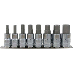 "DYNAMIC 1/2"" D 8 PC STANDARD SAE HEX SKT SET - wise-line-tools"