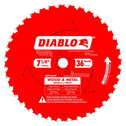 DIABLO  D0736GP  -  7-1/4'' 36T ALL PURPOSE SAW BLADE - wise-line-tools