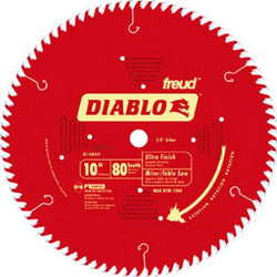 "Freud Diablo 10"" 80T Ultra Finish Blade - wise-line-tools"