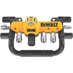 "Dewalt D55040 - QUADRAPORT AIR LINE SPLITTER WITH REGULATOR & 1/4"" COUPLERS - wise-line-tools"