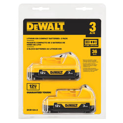DEWALT DCB124-2 12V MAX* 3AH LITHIUM ION BATTERY-2 Pack - wise-line-tools