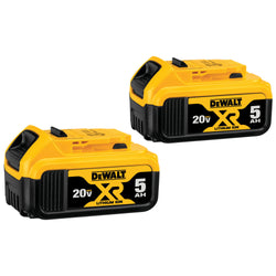 DEWALT DCB205-2 20V MAX XR 5.0Ah Lithium Ion Battery, 2-Pack - wise-line-tools