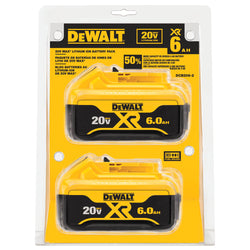 DEWALT DCB206-2 20V MAX 6.0Ah Lithium Ion Premium Battery, 2 Pack - Wise Line Tools