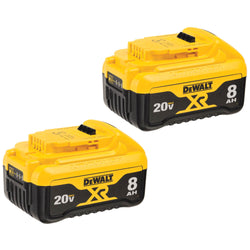 DEWALT DCB208-2-  20V MAX 8.0Ah Lithium Ion Premium Battery 2 Pack