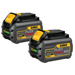 DEWALT DCB606-2 FLEXVOLT™ 20/60V MAX BATTERY PACK 6.0AH DUAL PACK - wise-line-tools