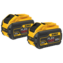 DEWALT DCB609-2 20V/60V Max Flexvolt 9.0Ah Battery, 2 Pack - wise-line-tools