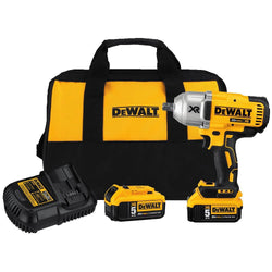 "DEWALT DCF899P2 20V MAX* XR® HIGH TORQUE 1/2"" IMPACT WRENCH W. DETENT PIN ANVIL KIT (5.0AH) - Wise Line Tools"