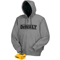 DEWALT DCHJ068B -  20V/12V MAX Bare Hooded Heated Jacket, Gray - wise-line-tools
