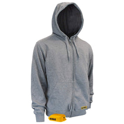DEWALT DCHJ080B - Heated Hoodie Bare - Heather Gray - wise-line-tools