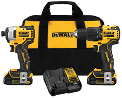 DEWALT Atomic DCK279C2 - 20V MAX Brushless Sub Compact Hammerdrill/Impact Driver Combo Kit w/ 2 Batteries - Wise Line Tools