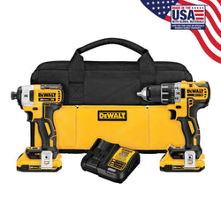 DEWALT DCK283D2 20V MAX* XR® LITHIUM ION BRUSHLESS COMPACT DRILL / DRIVER & IMPACT DRIVER COMBO KIT - wise-line-tools