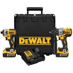 DEWALT DCK299P2 20V MAX XR Lithium Ion Brushless Premium Hammerdrill & Impact Kit with 2-5.0AH Batteries - wise-line-tools