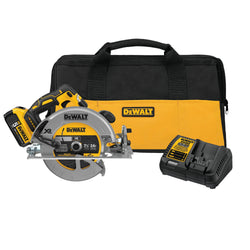 "Dewalt DCS570P1 20V MAX XR 7-1/4"" Circular Saw Kit - Wise Line Tools"