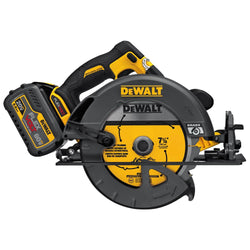 "Dewalt DCS575T2 - FLEXVOLT™ 60V MAX* 7-1/4"" CIRCULAR SAW W/BRAKE KIT (INCLUDES 2 BATT) - Wise Line Tools"