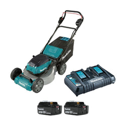 "Makita DLM530PT2  -  21"" STEEL DECK LAWN MOWER KIT (18VX2 LI-ION 5AH) W/DUB362Z"