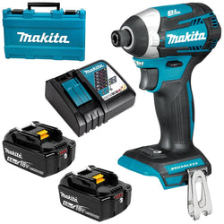 Makita DTD154RTE 18V LXT Brushless 1/4 Impact Driver Kit - wise-line-tools