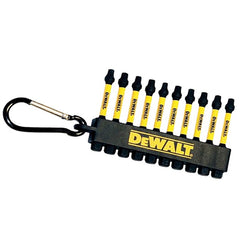 "DeWALT DWA3SQ2IRCARC, Flex Torq 2"" Square 10 Pack Impact Drivers with Carabiner"