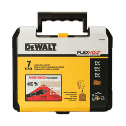 "DEWALT  DWAFV07SET -  7 PC CARBIDE WOOD DRILLING HOLE SAW KIT (2-1/8"", 2-9/16"", 3-5/8"") - Wise Line Tools"