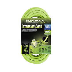 Flexzilla  FZ512725 - Pro Extension Cord,  14/3, 25' - Wise Line Tools