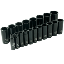"Gray tools GT-D018026  -   19pc 1/2"" Drive 6 Point Imperial Deep Socket Set"
